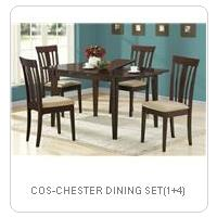 COS-CHESTER DINING SET(1+4)